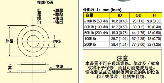LCWD/LCMWD稱重傳感器 尺寸