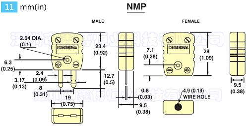 NMP-D-M插頭 美國omega熱電偶插頭