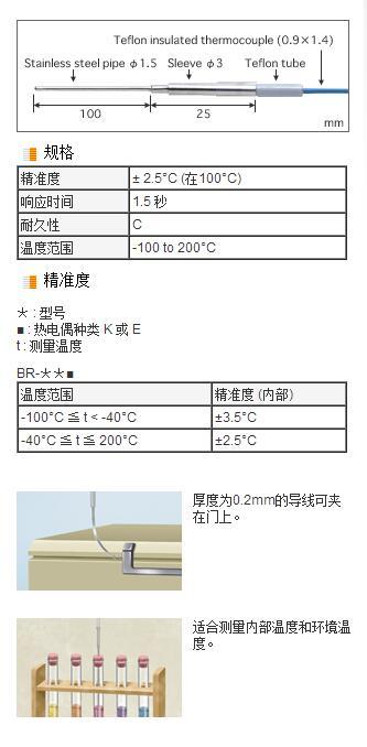 BR系列低溫用熱電偶測溫探頭