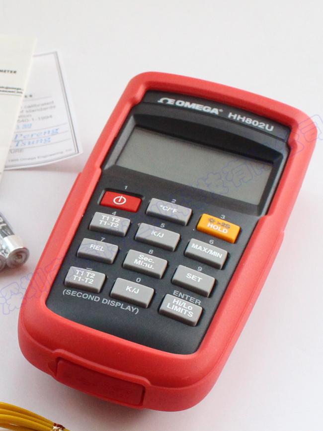 美國Omega HH802U數顯溫度計按鍵中文說明