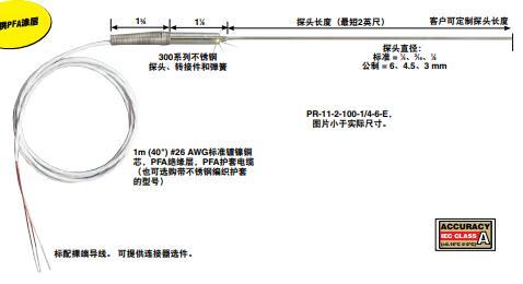 PR-11高精度熱電阻桿狀探頭