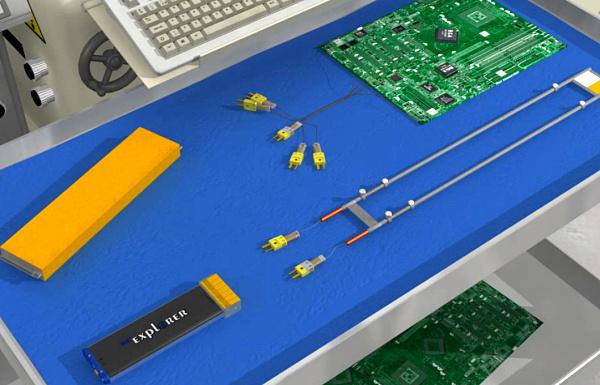 Omega不可逆溫度標簽在爐溫跟蹤儀上的應用