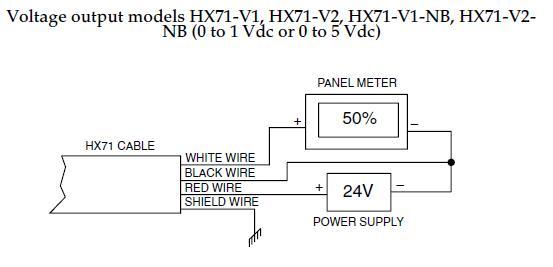 HX71-V1濕度傳感器/變送器接線圖