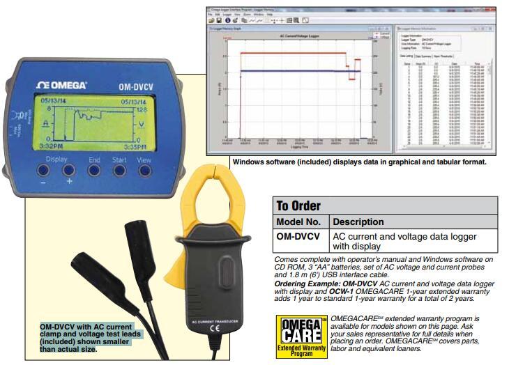 OM-DVCV電壓電流記錄儀