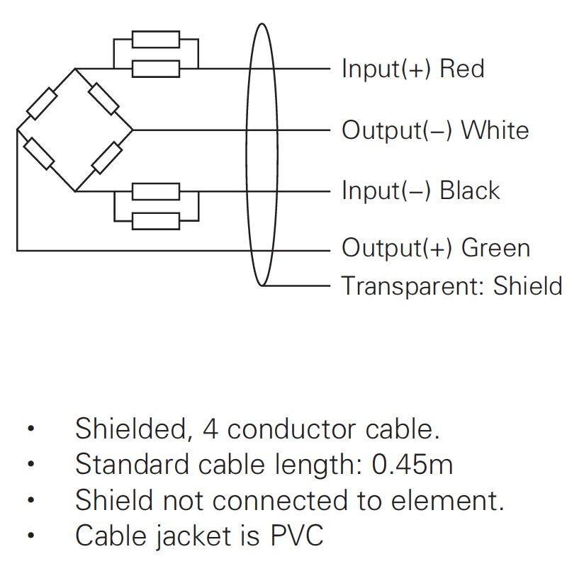 LC103B稱重傳感器接線圖