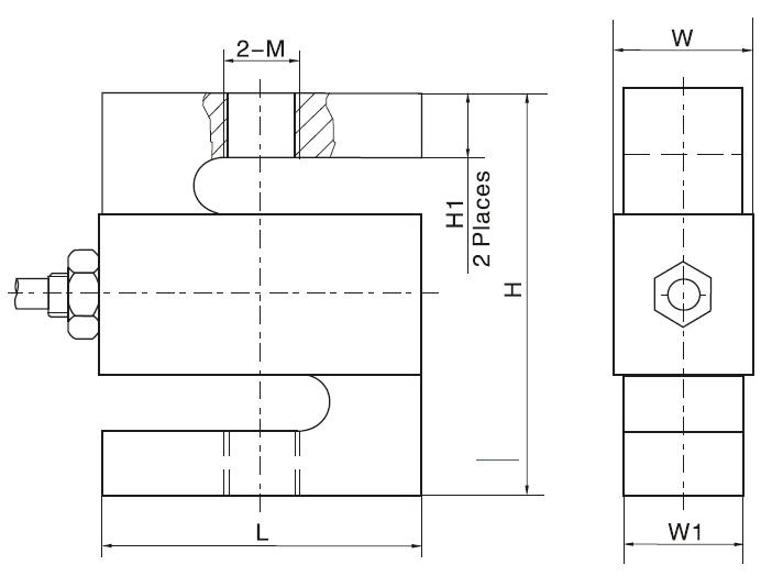 LC103B稱重傳感器尺寸圖