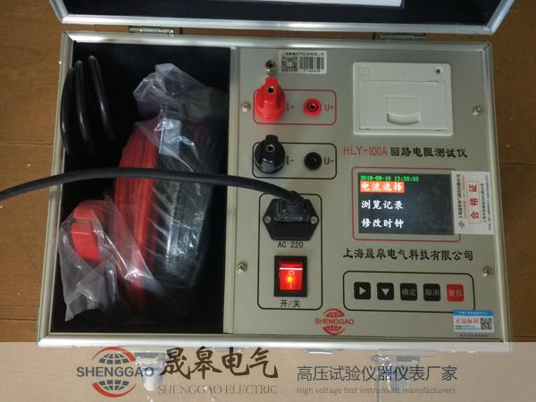 100A回路電阻測試儀性能特點及技術參數