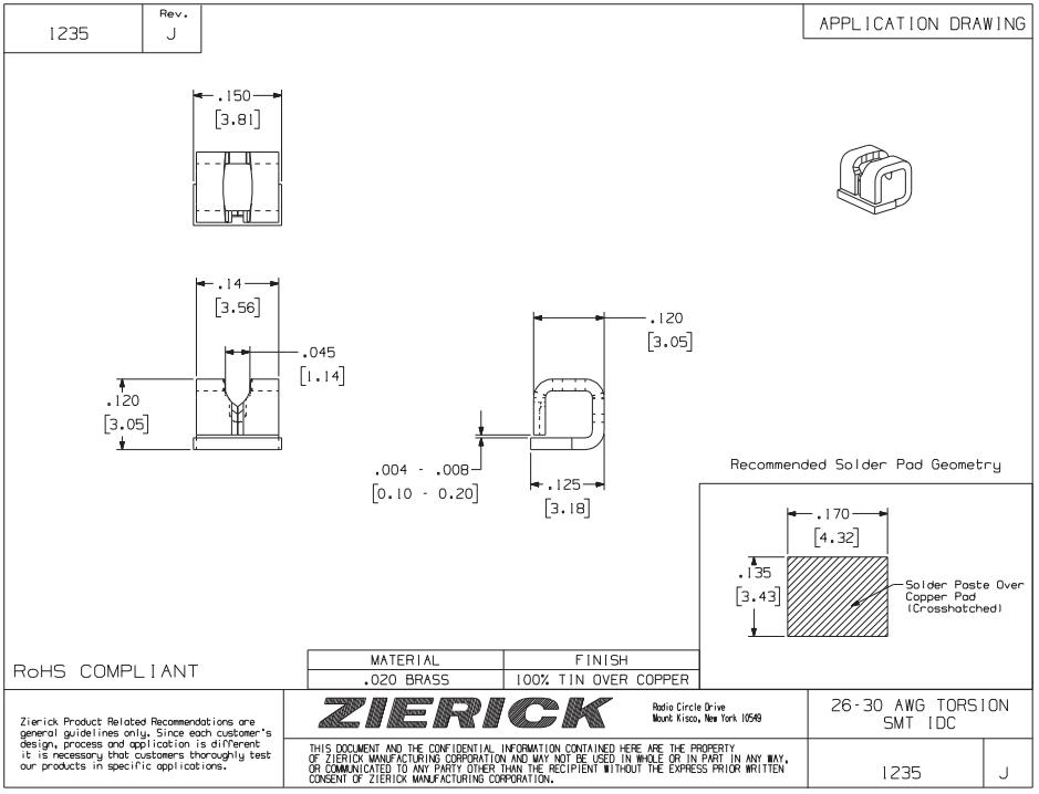 ZIERICK線夾1235_連接器_韋德科技(深圳)有限公司0755-2665 6615
