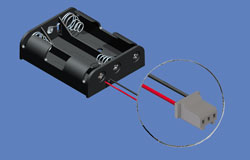 Keystone帶PCB連接器的電池座_韋德科技代理銷售0755-26656615
