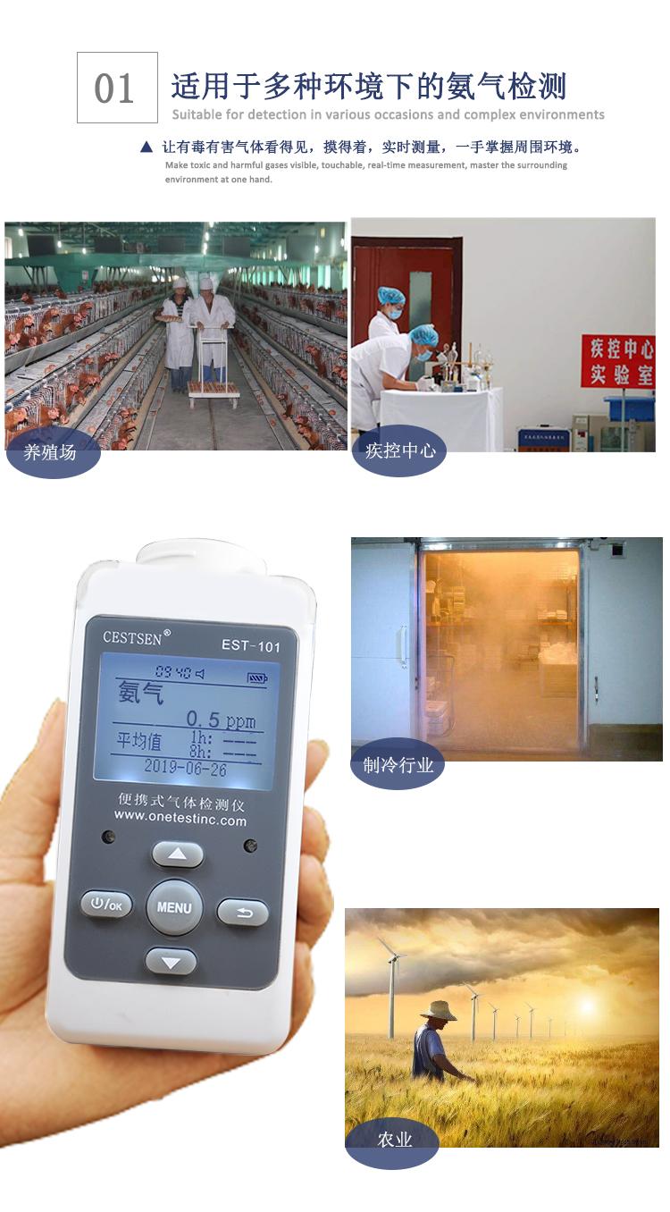 氨气检测仪应用范围