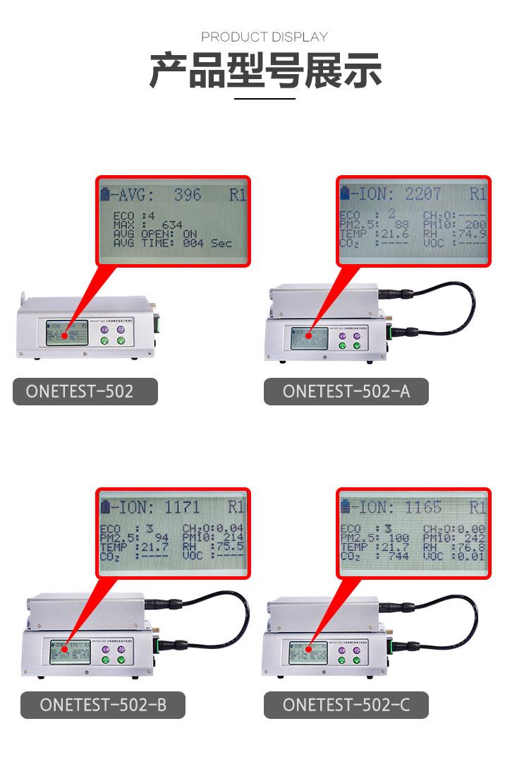 多参数负氧离子检测仪型号划分