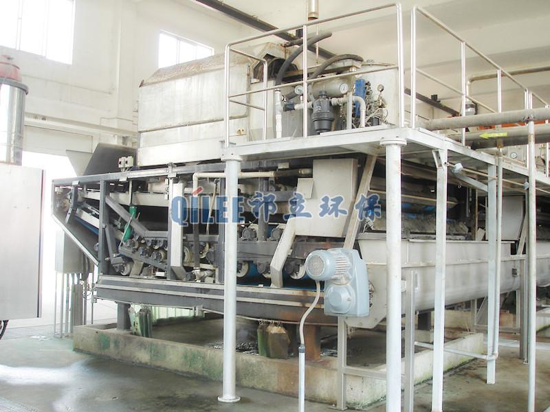 北京爱芬食品厂带式污泥脱水机现场