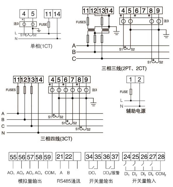 向日葵视频app下载页面PZ80L-AV/MC  一路4-20mA输出  带通讯  单相电压表