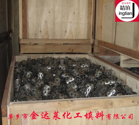 321不锈钢鲍尔环填料木箱包装