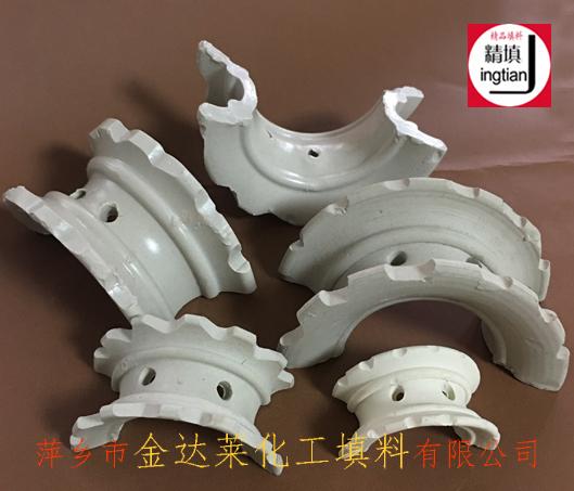 陶瓷异鞍环填料 陶瓷异鞍环厂家 干燥吸取塔瓷质散堆填料 精填牌萍乡金达莱